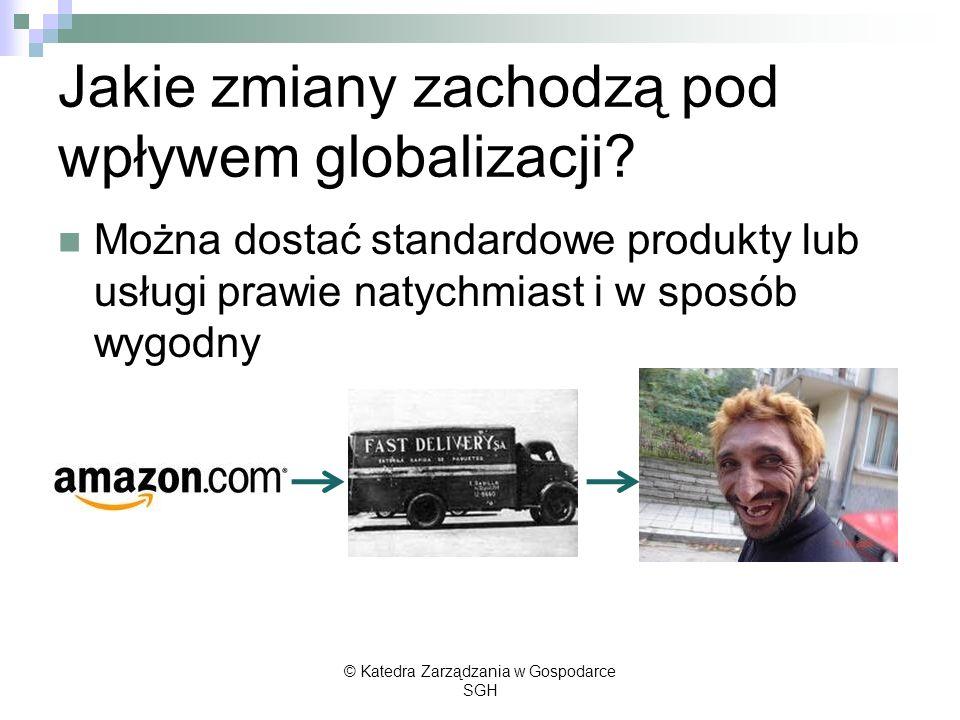 Jakie zmiany zachodzą pod wpływem globalizacji