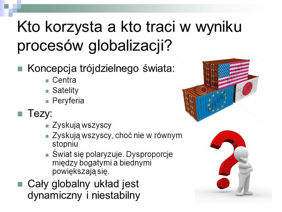 Kto korzysta a kto traci w wyniku procesów globalizacji