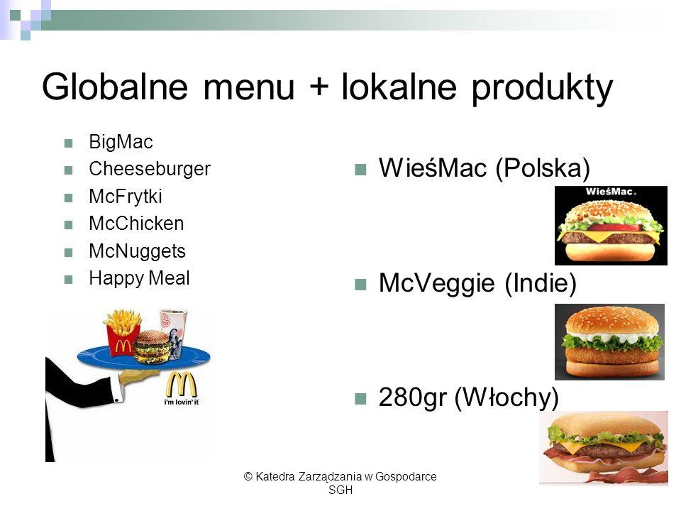 Globalne menu + lokalne produkty
