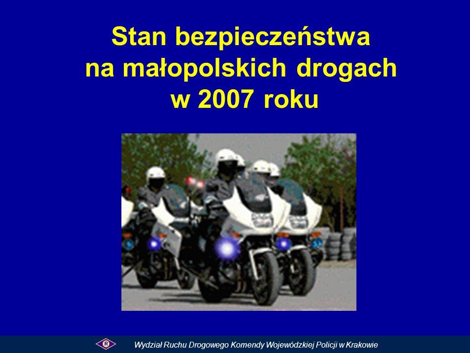 Stan bezpieczeństwa na małopolskich drogach w 2007 roku
