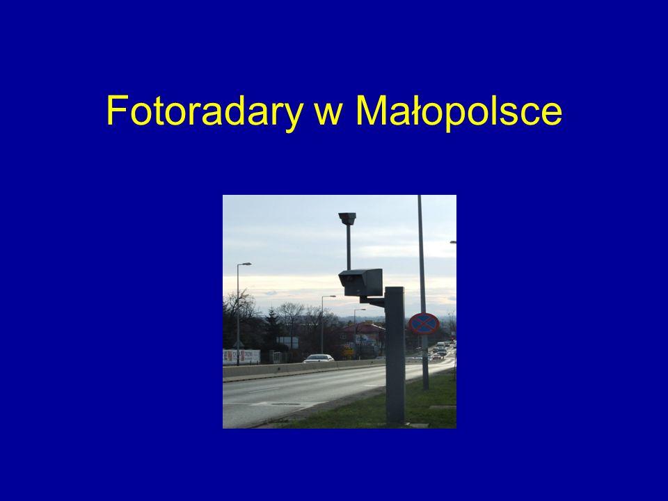 Fotoradary w Małopolsce