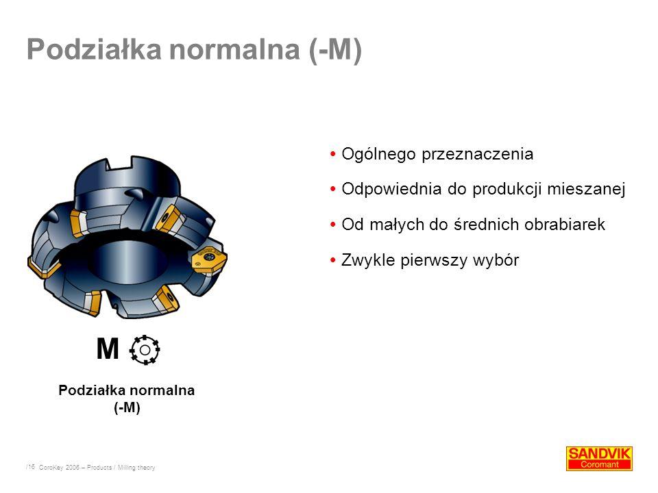Podziałka normalna (-M)