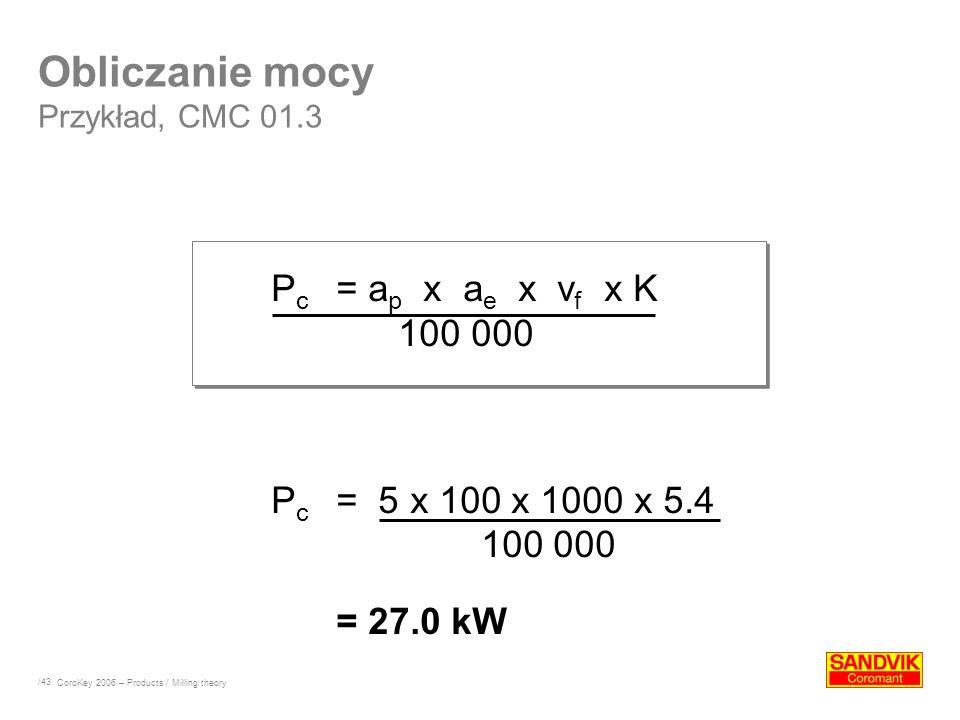Obliczanie mocy Przykład, CMC 01.3