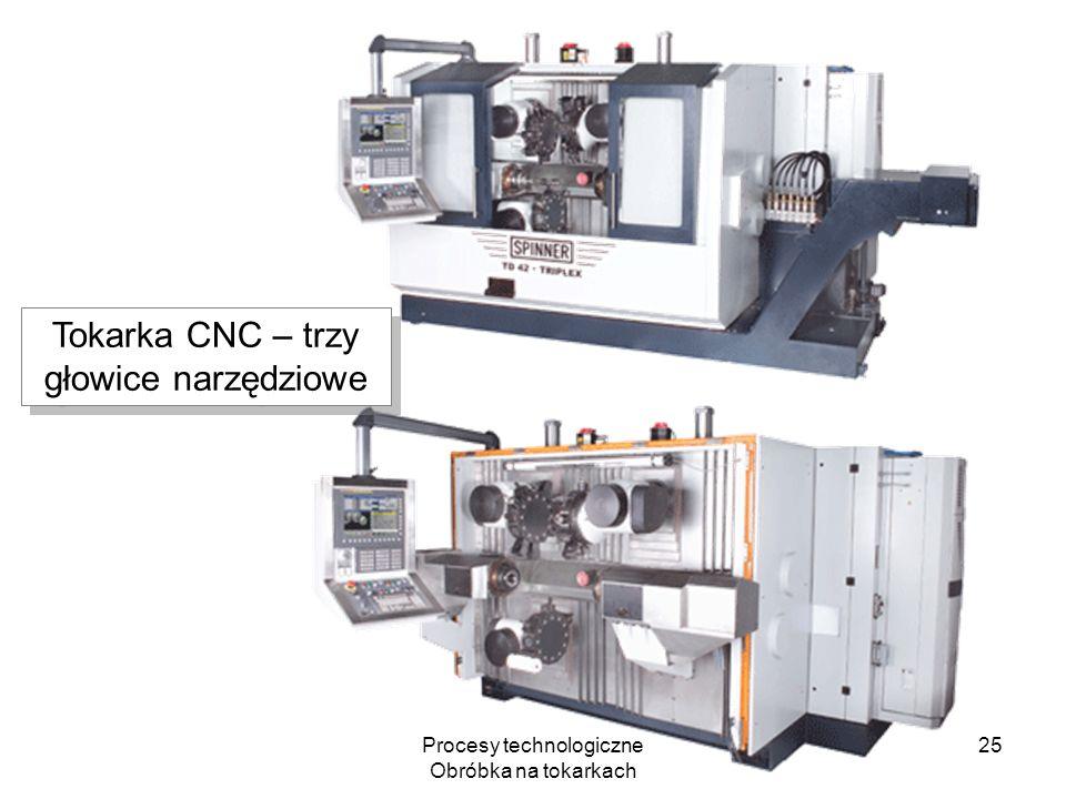 Tokarka CNC – trzy głowice narzędziowe