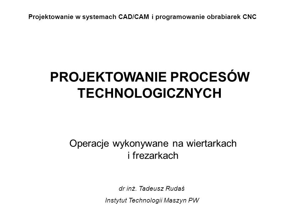 PROJEKTOWANIE PROCESÓW TECHNOLOGICZNYCH