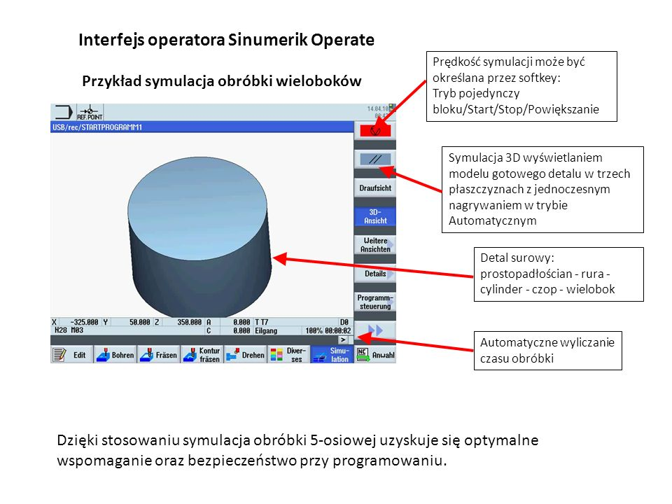 Interfejs operatora Sinumerik Operate