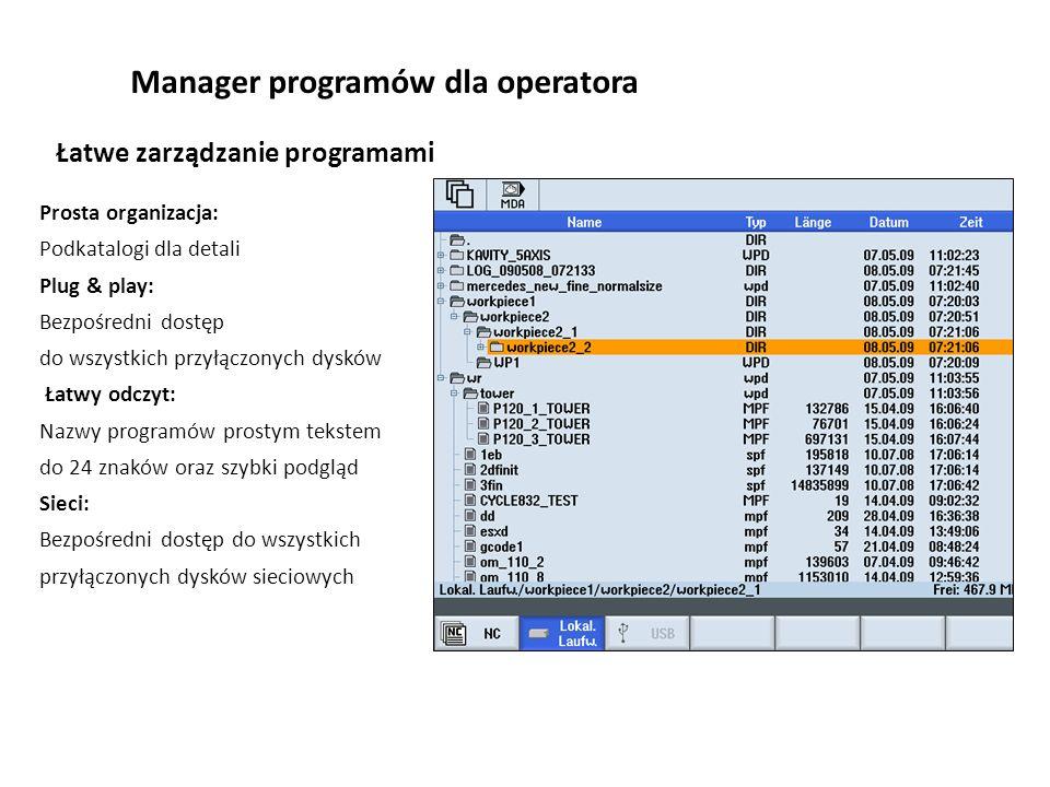 Manager programów dla operatora