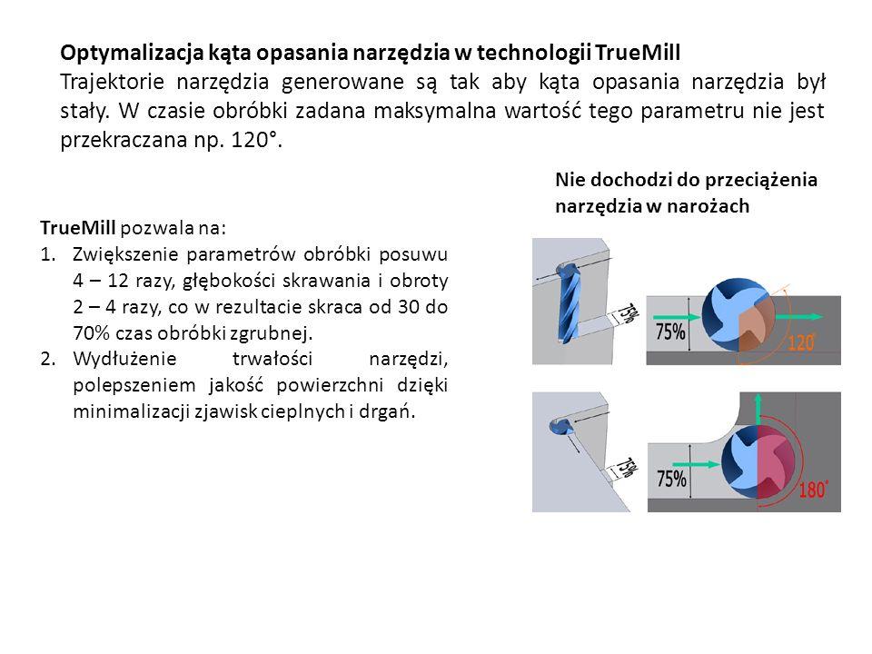 Optymalizacja kąta opasania narzędzia w technologii TrueMill