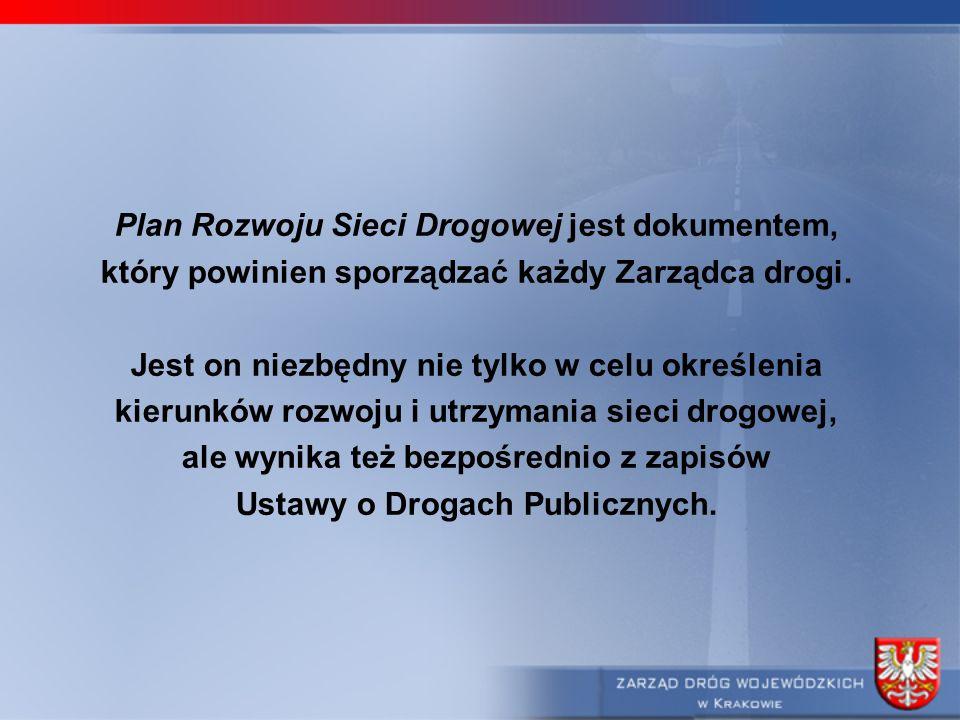 Plan Rozwoju Sieci Drogowej jest dokumentem,