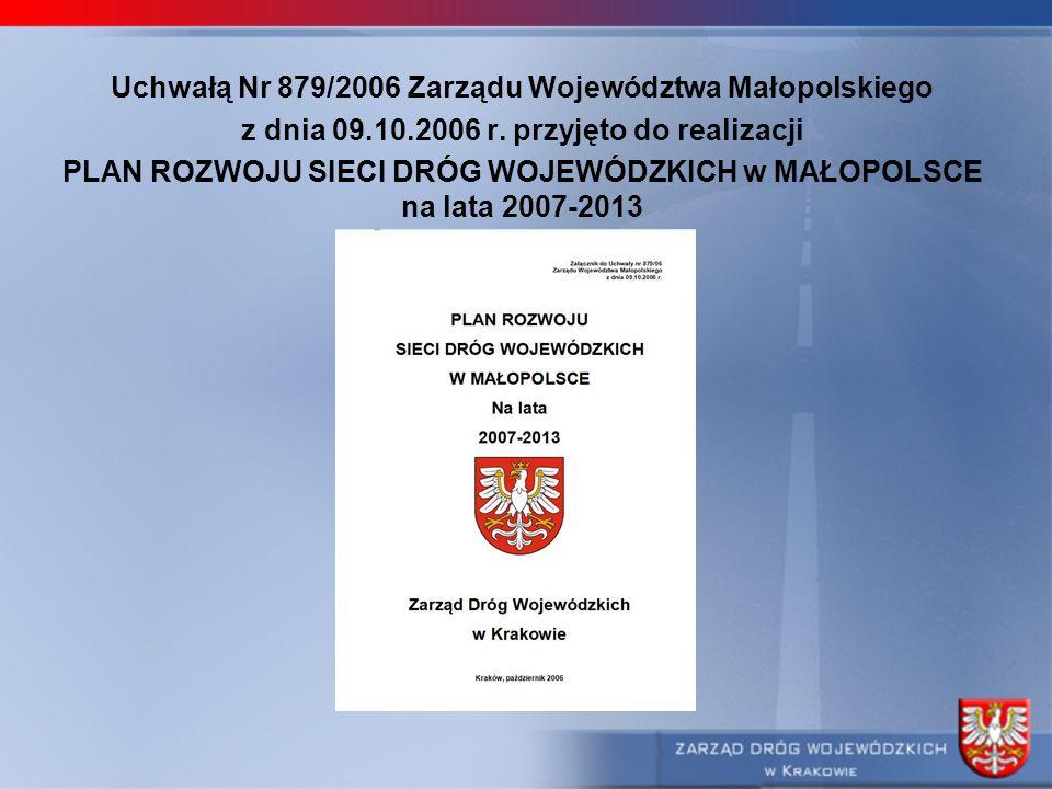 Uchwałą Nr 879/2006 Zarządu Województwa Małopolskiego
