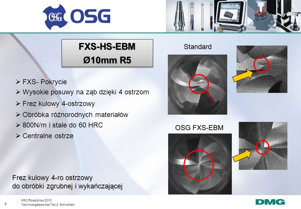 FXS-HS-EBM Ø10mm R5 Standard FXS- Pokrycie