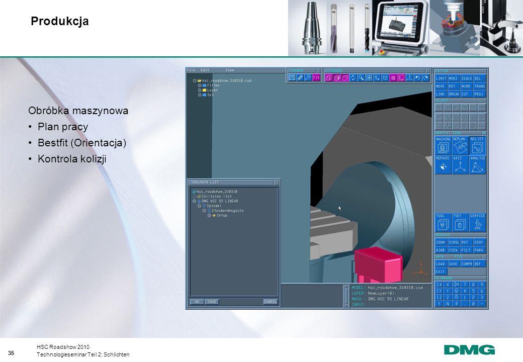 Produkcja Obróbka maszynowa Plan pracy Bestfit (Orientacja)