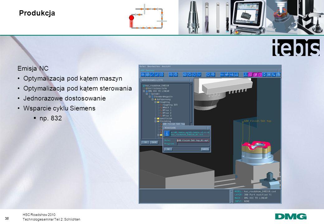 Produkcja Emisja NC Optymalizacja pod kątem maszyn