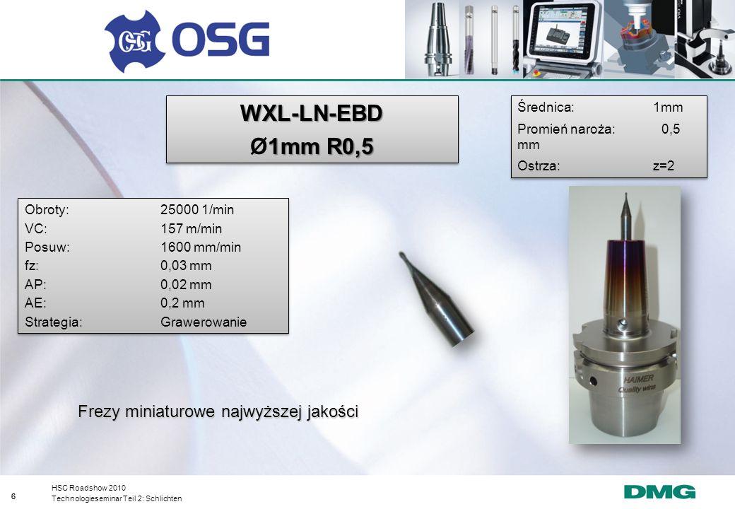 WXL-LN-EBD Ø1mm R0,5 Frezy miniaturowe najwyższej jakości