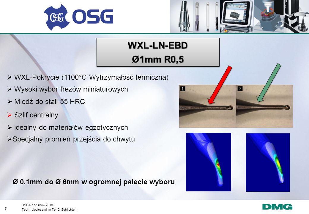 WXL-LN-EBD Ø1mm R0,5 WXL-Pokrycie (1100°C Wytrzymałość termiczna)
