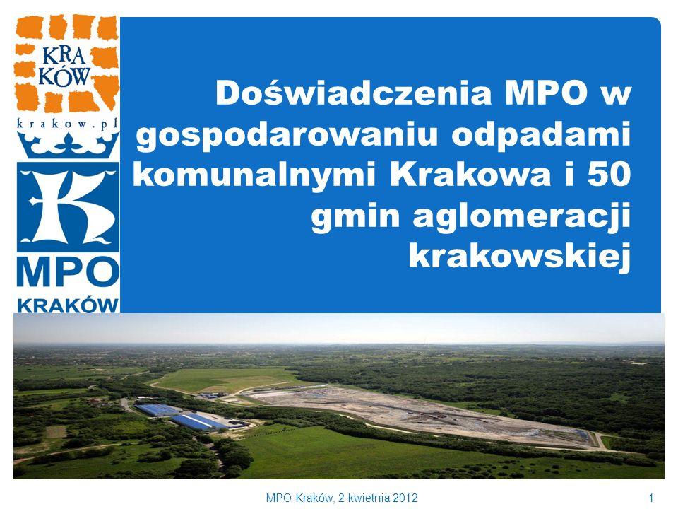 Doświadczenia MPO w gospodarowaniu odpadami komunalnymi Krakowa i 50 gmin aglomeracji krakowskiej