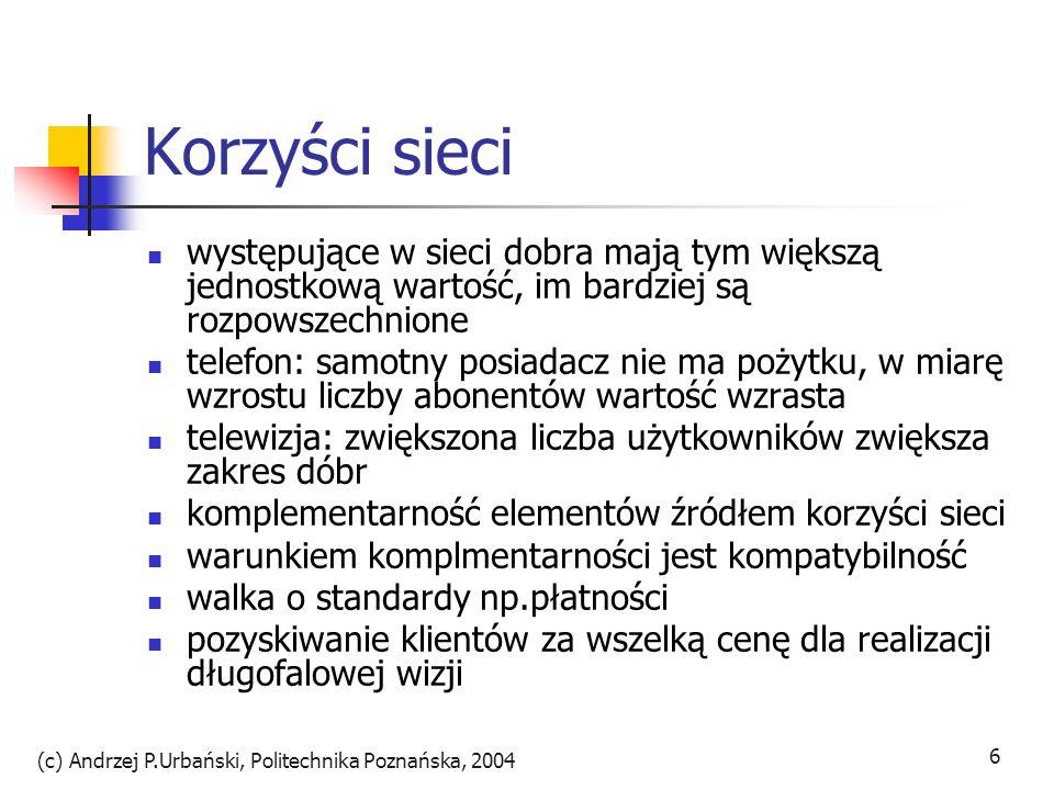 (c) Andrzej P.Urbański, Politechnika Poznańska, 2004