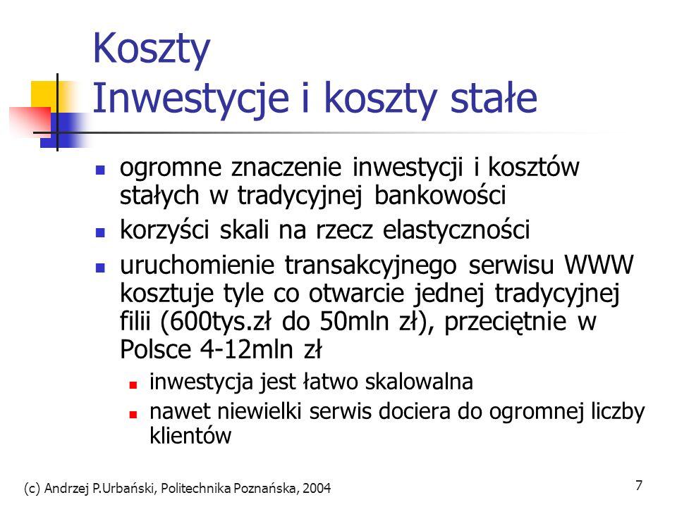 Koszty Inwestycje i koszty stałe