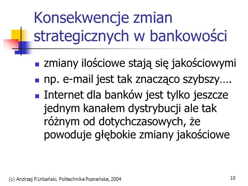 Konsekwencje zmian strategicznych w bankowości