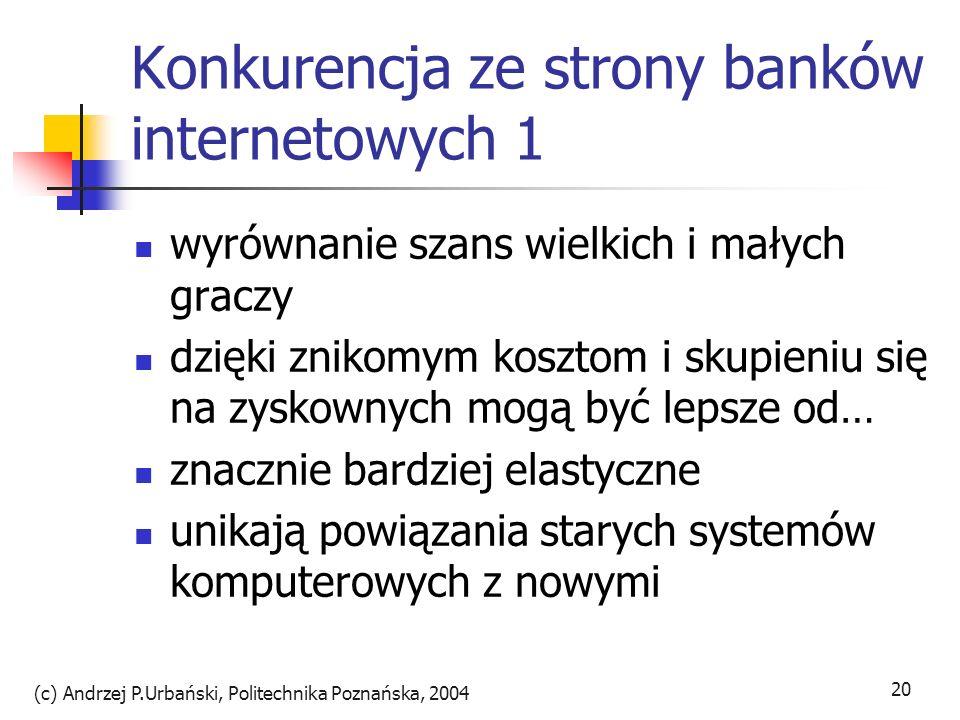 Konkurencja ze strony banków internetowych 1