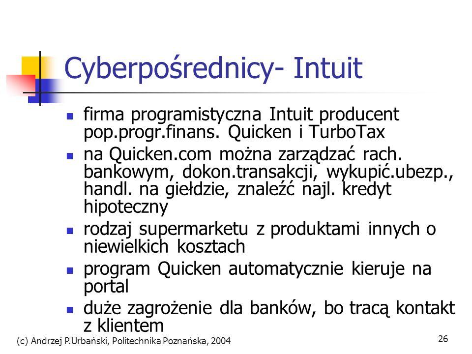 Cyberpośrednicy- Intuit