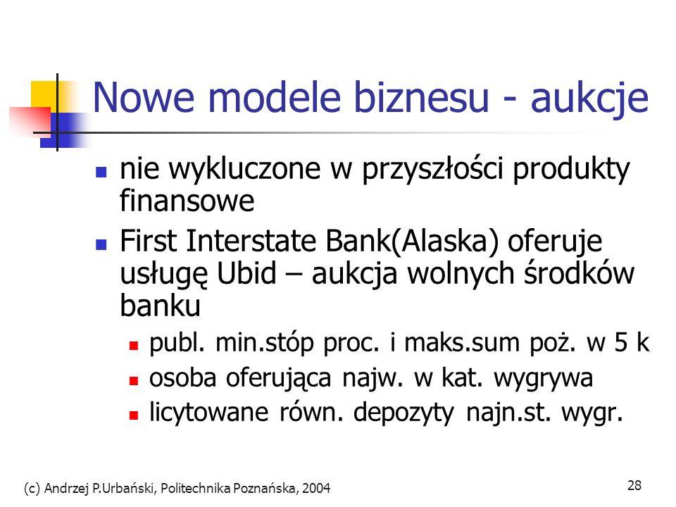 Nowe modele biznesu - aukcje