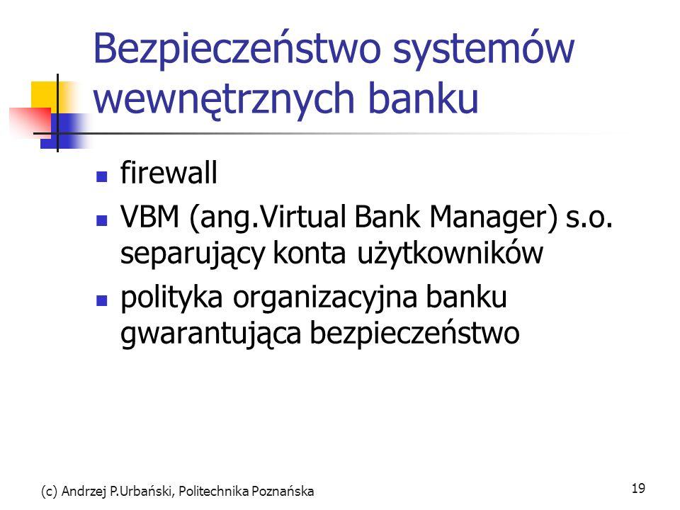 Bezpieczeństwo systemów wewnętrznych banku