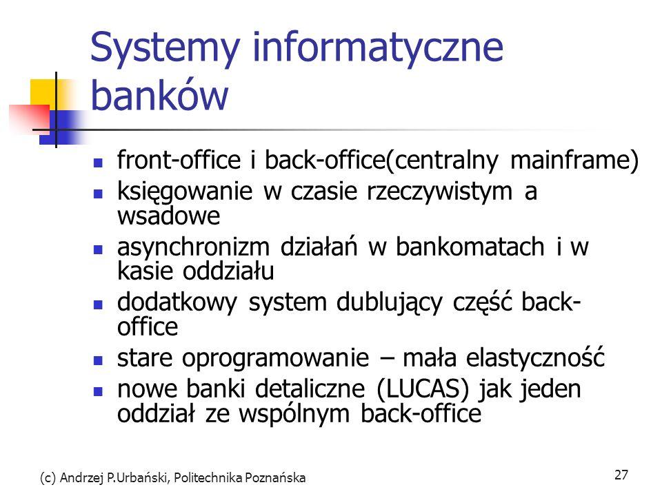 Systemy informatyczne banków