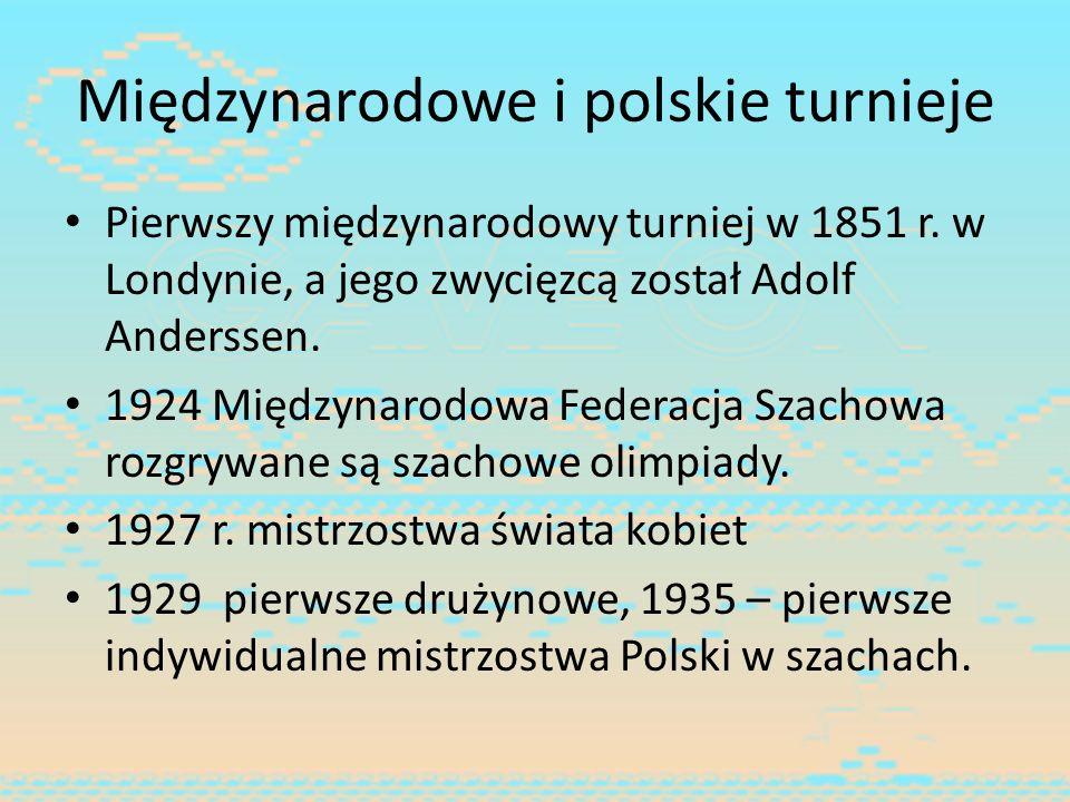 Międzynarodowe i polskie turnieje