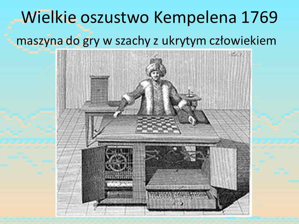 Wielkie oszustwo Kempelena 1769 maszyna do gry w szachy z ukrytym człowiekiem