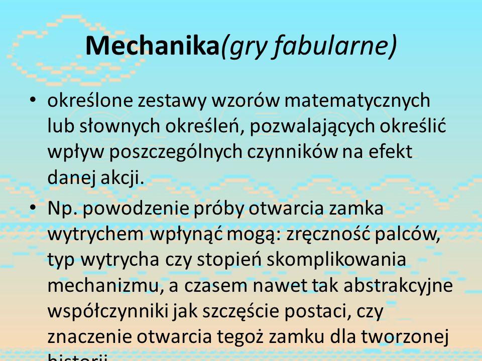 Mechanika(gry fabularne)