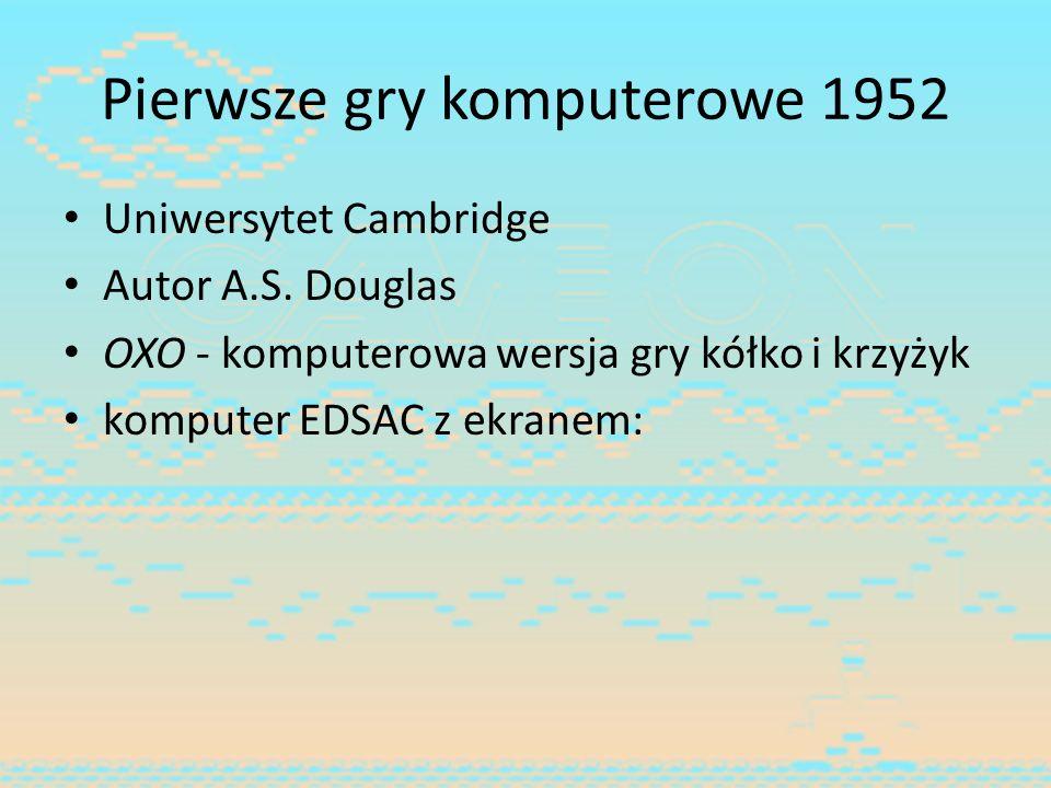 Pierwsze gry komputerowe 1952