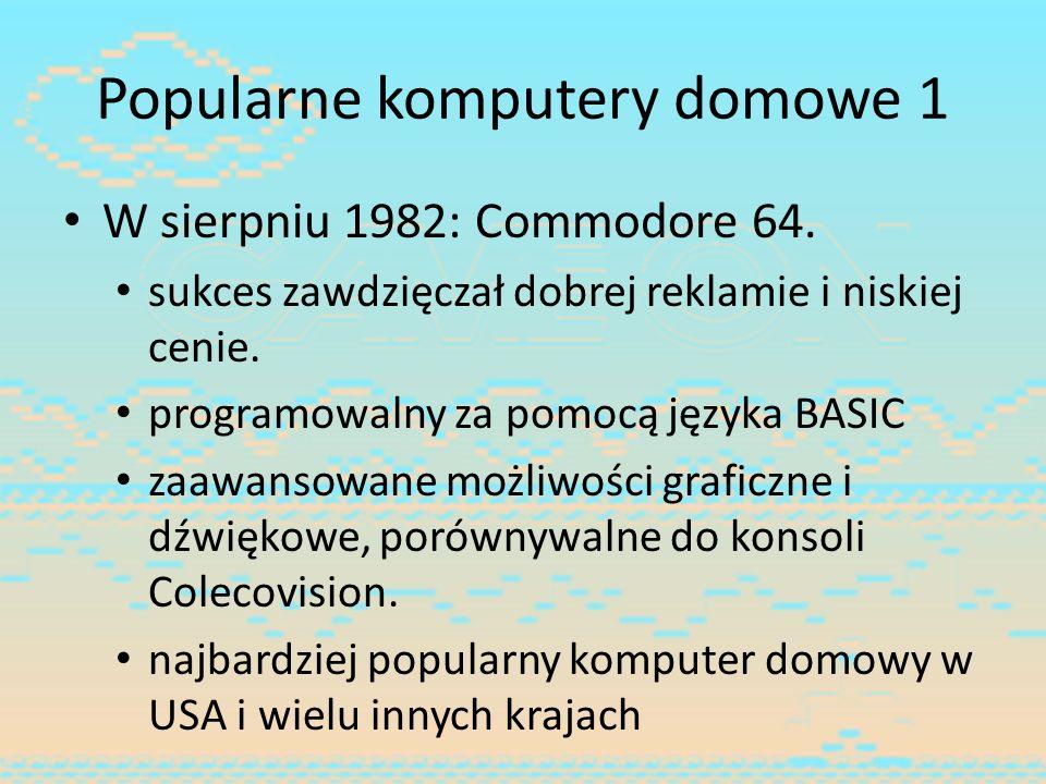Popularne komputery domowe 1