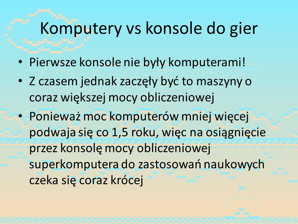 Komputery vs konsole do gier
