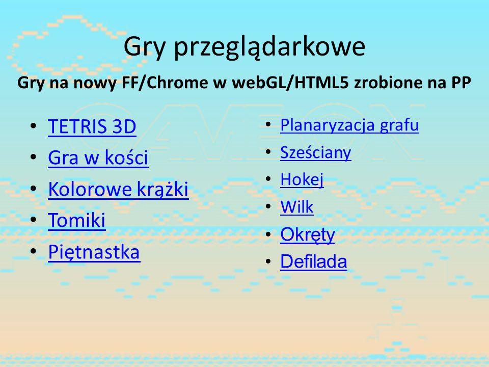 Gry na nowy FF/Chrome w webGL/HTML5 zrobione na PP