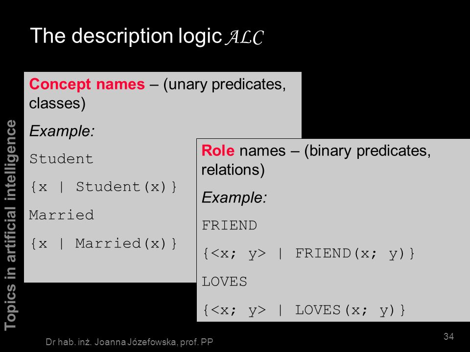 The description logic ALC