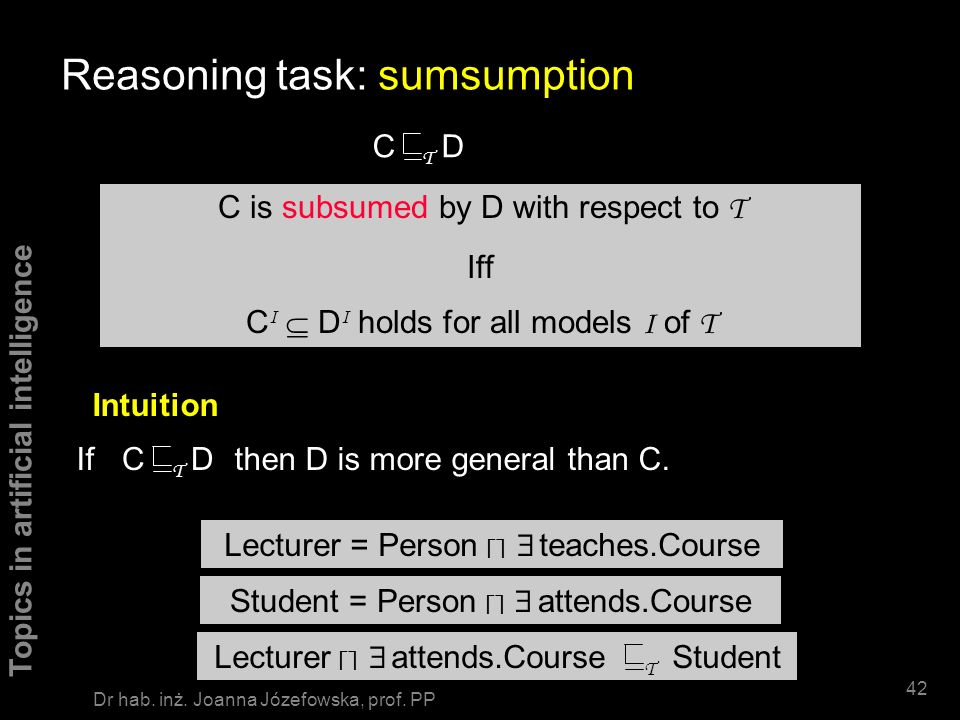 Reasoning task: sumsumption