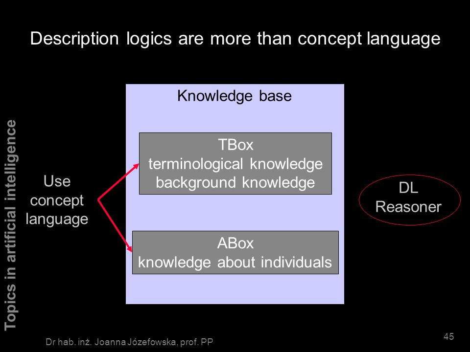 Description logics are more than concept language