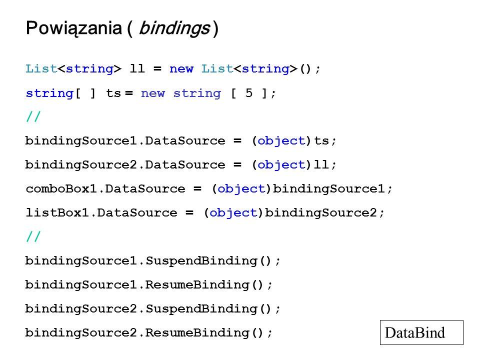 Powiązania ( bindings )