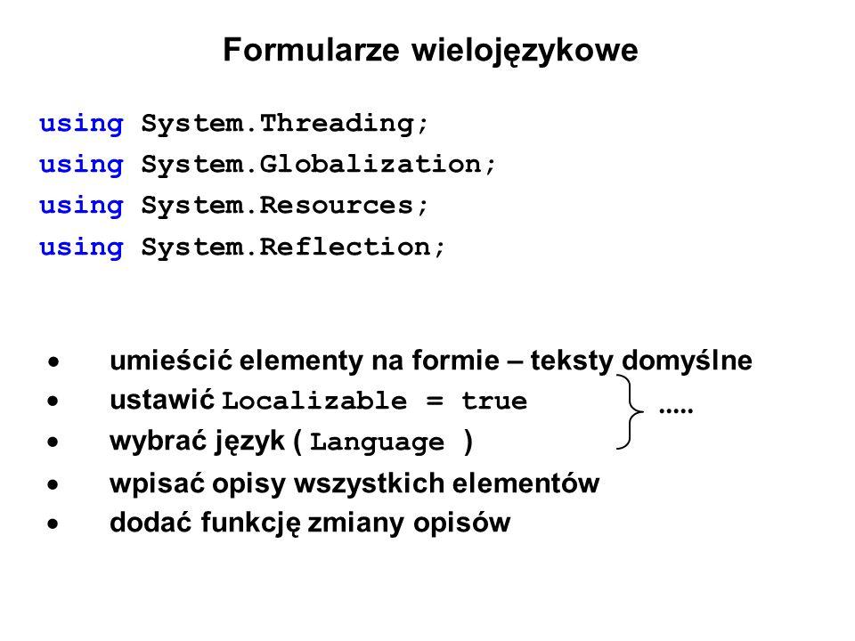Formularze wielojęzykowe
