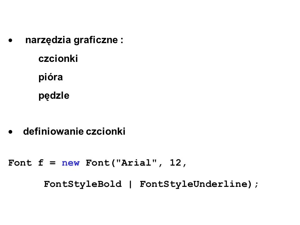  narzędzia graficzne :