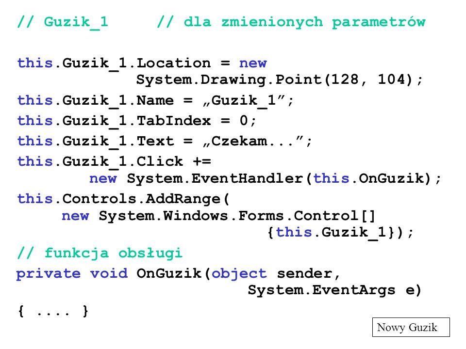 // Guzik_1 // dla zmienionych parametrów