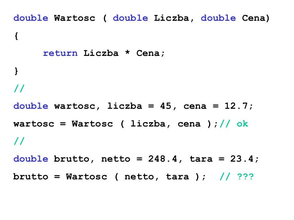 double Wartosc ( double Liczba, double Cena)