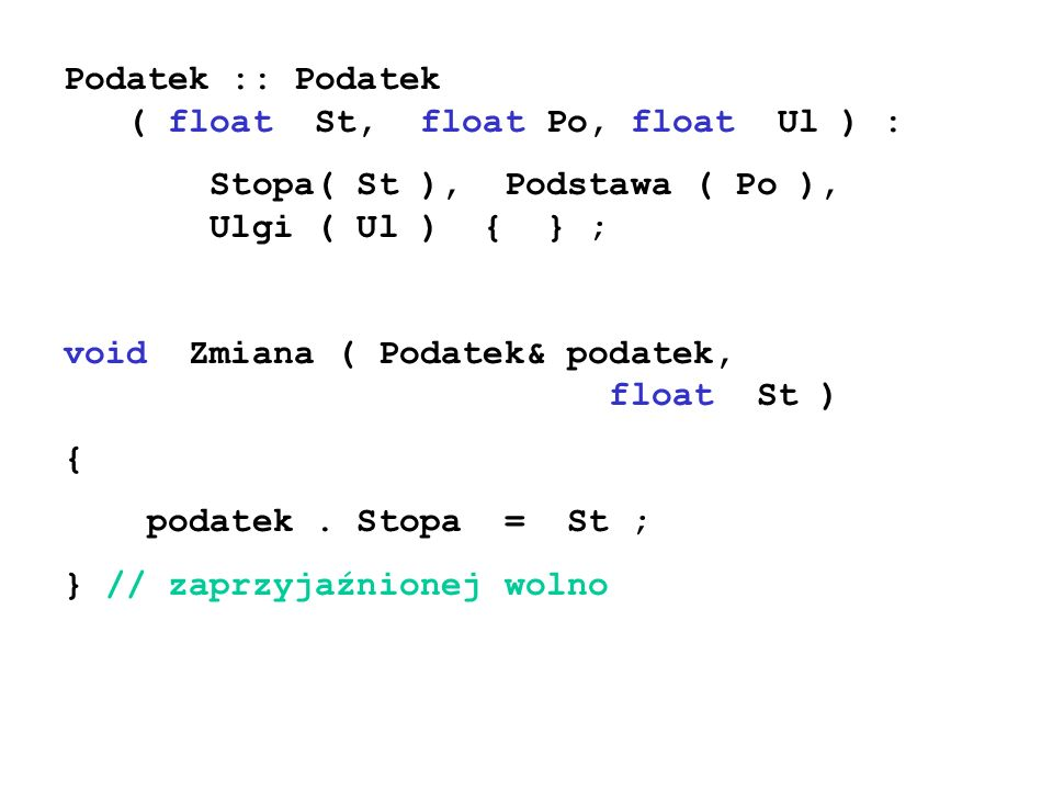 Podatek :: Podatek ( float St, float Po, float Ul ) :