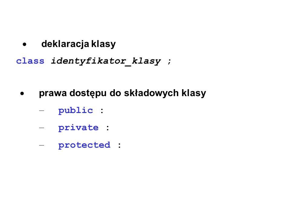 class identyfikator_klasy ;