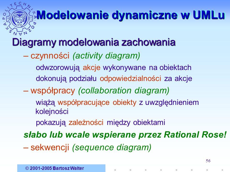 Modelowanie dynamiczne w UMLu