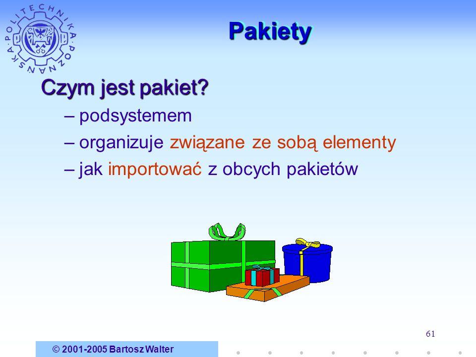 Pakiety Czym jest pakiet podsystemem