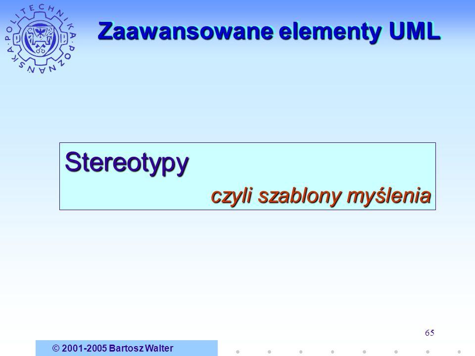 Zaawansowane elementy UML