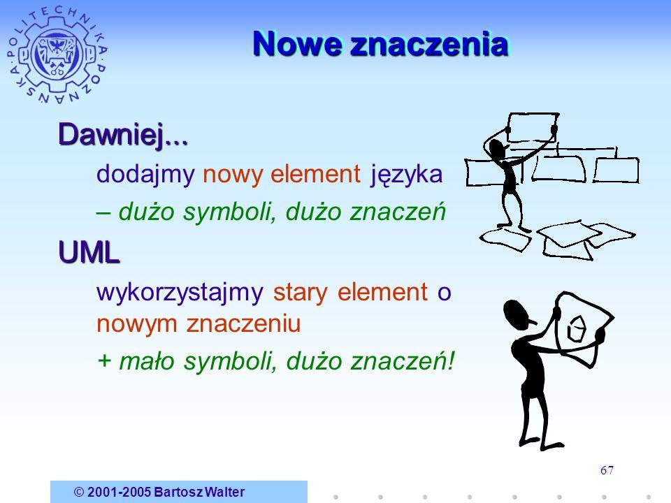 Nowe znaczenia Dawniej... UML dodajmy nowy element języka