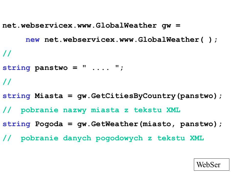 net.webservicex.www.GlobalWeather gw =